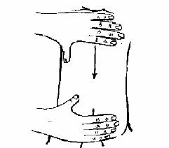 barrido de espalda El masaje Infantil Paso a Paso