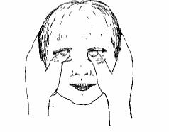 despliegue de pulgares sobre las cejas El masaje Infantil Paso a Paso