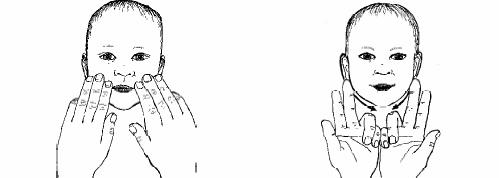 relajación de la mandibula El masaje Infantil Paso a Paso